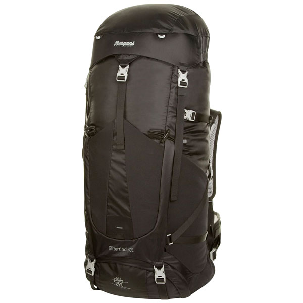 batoh BERGANS Glittertind 70 L Black/Solid Light Grey