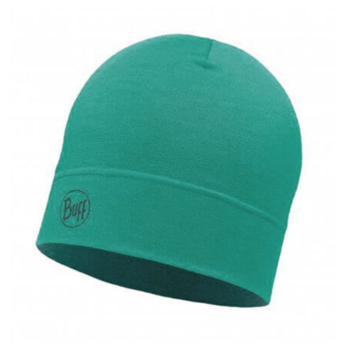 čiapka BUFF Midweight Merino Wool Hat Solid Turquoise