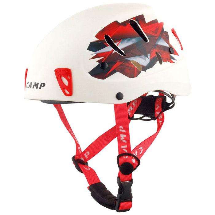 prilba CAMP Armour White/Red 54-62cm