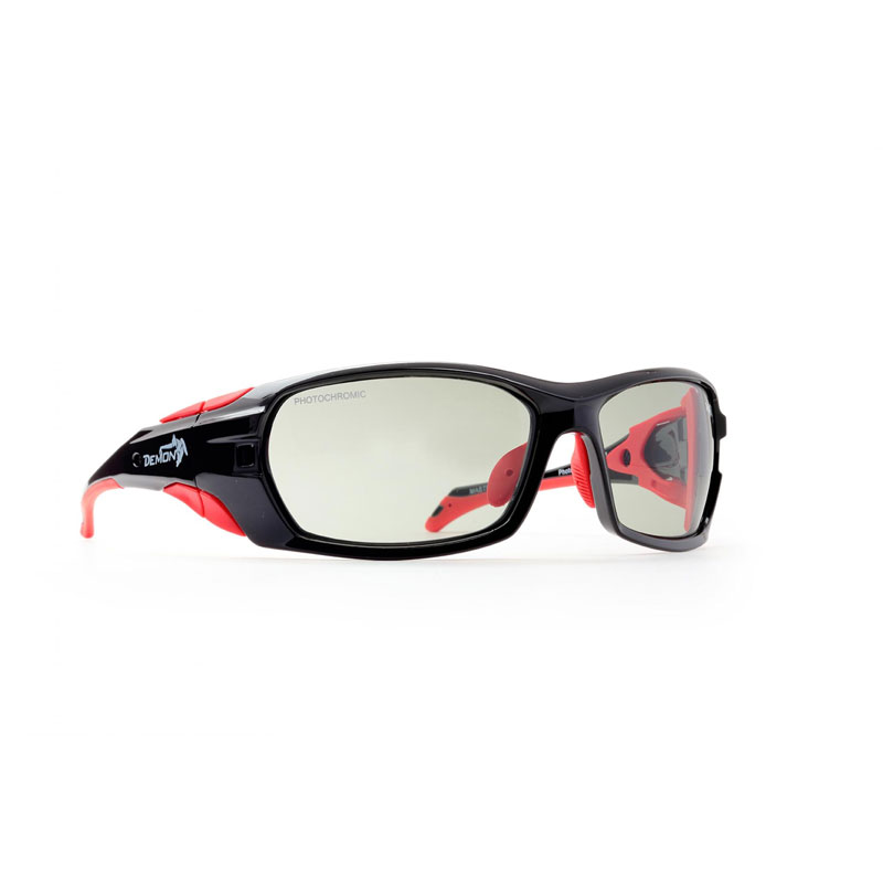 okuliare DEMON MasterPiece Photochromic Shiny Black Red