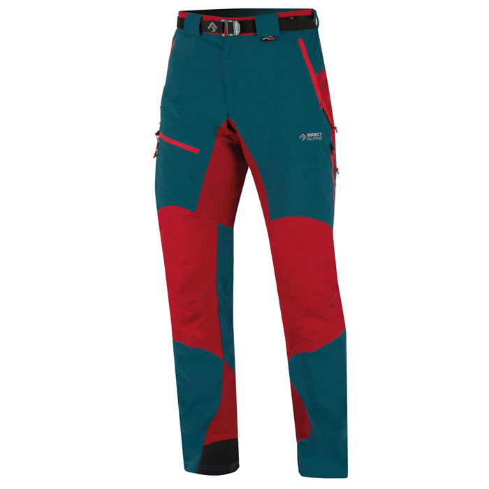 nohavice DIRECT ALPINE Patrol Tech 1.0 Petrol/Red