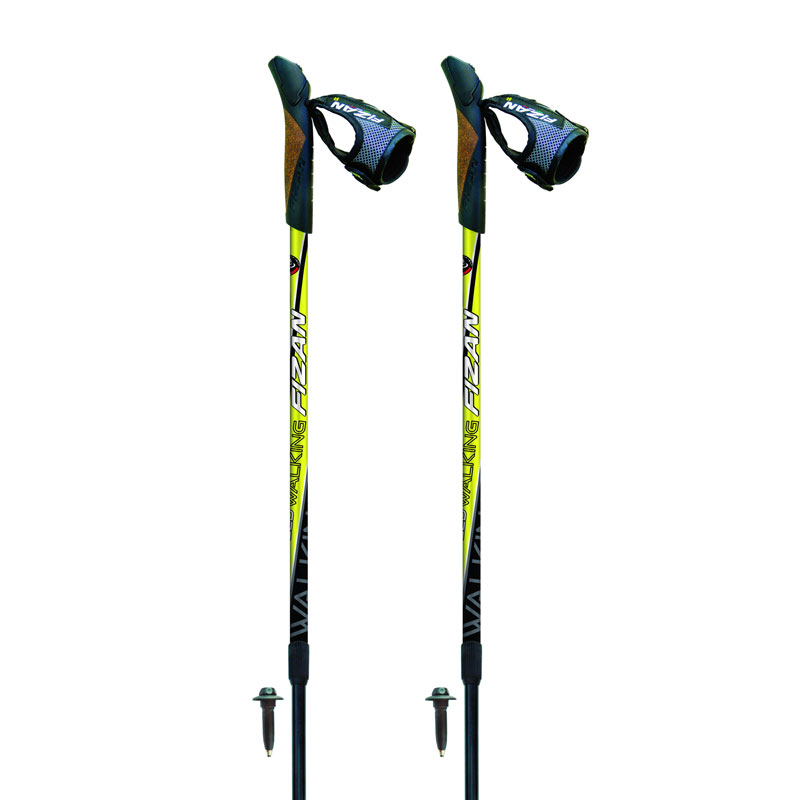 palice FIZAN Nordic Walking Speed Lime/Black 75-125cm