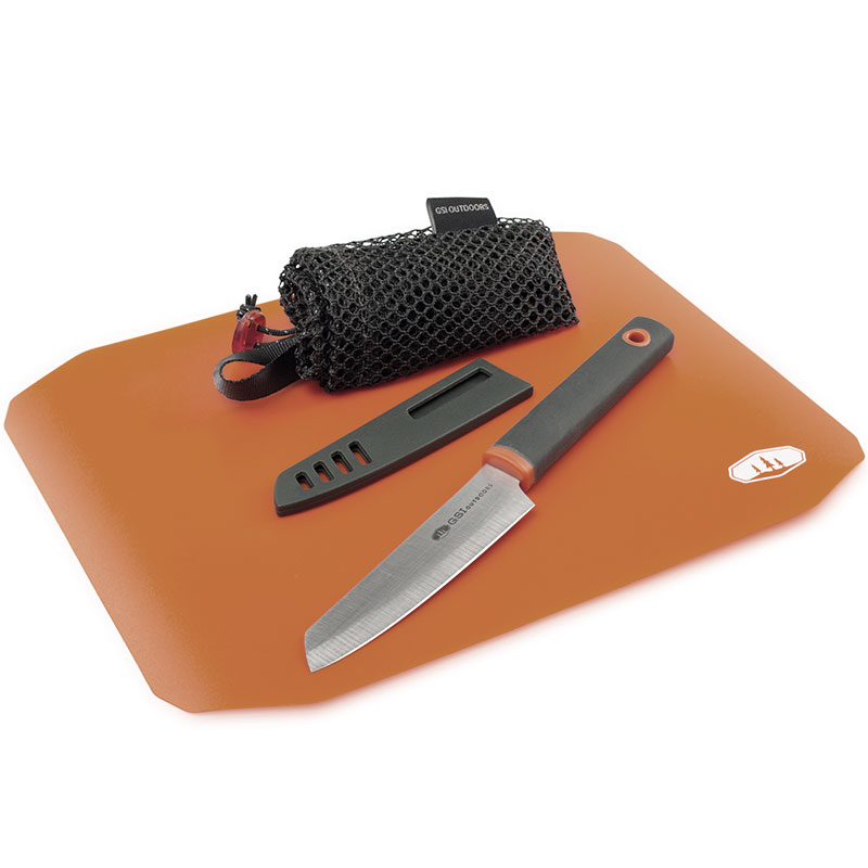 sada GSI Outdoors Rollup Cutting Board Knife Set