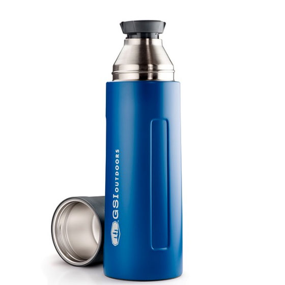 termoska GSI Glacier Stainless 1 L Vacuum Bottle Blue