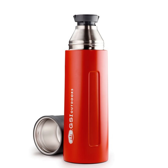 termoska GSI Glacier Stainless 1 L Vacuum Bottle Red