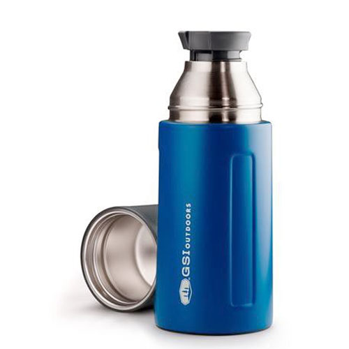 termoska GSI Glacier Stainless 0.5 L Vacuum Bottle Blue