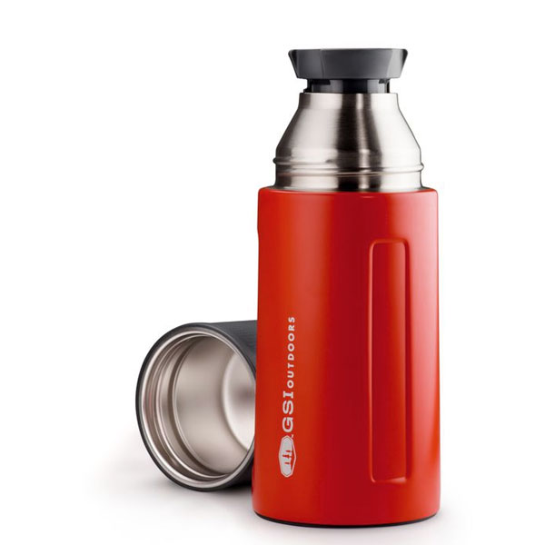 termoska GSI Glacier Stainless 0.5 L Vacuum Bottle Red