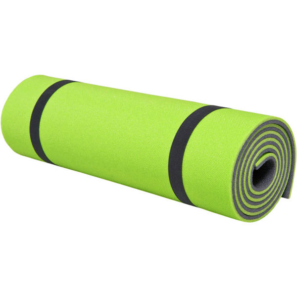 karimatka HIGH COLORADO Camping Mat 10mm Black/Lime