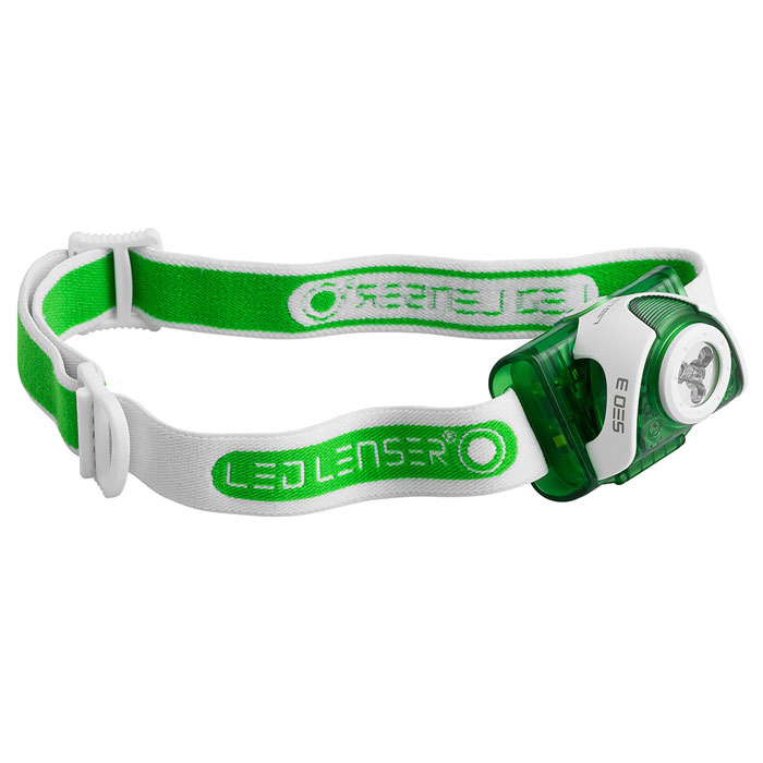 čelovka LED LENSER SEO 3 Green/White