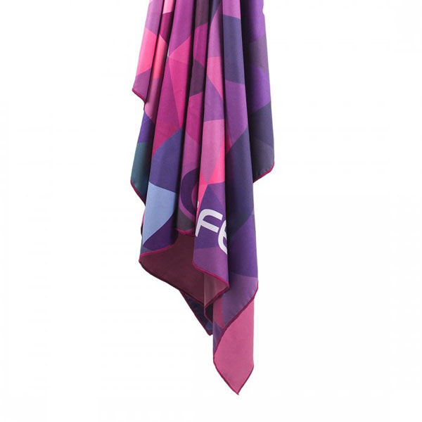 uterák LIFEVENTURE SoftFibre Printed Trek Towel Pink Triangles