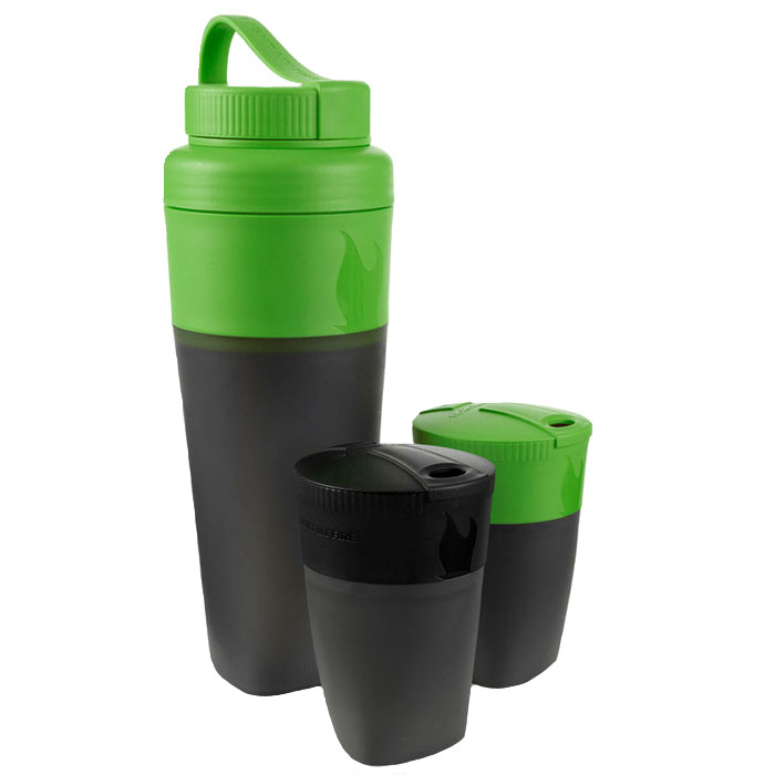 sada na pitie LIGHT MY FIRE Pack-up-Drink Kit Black/Green