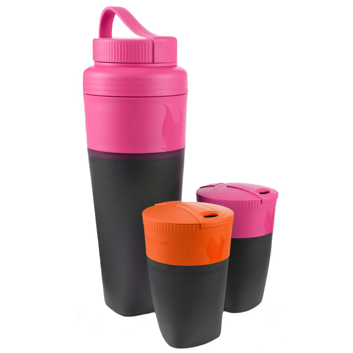 sada na pitie LIGHT MY FIRE Pack-up-Drink Kit Fuchsia/Orange
