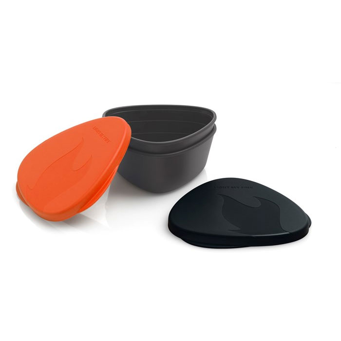 nádobky LIGHT MY FIRE SnapBox Original 2-pack Orange/Black