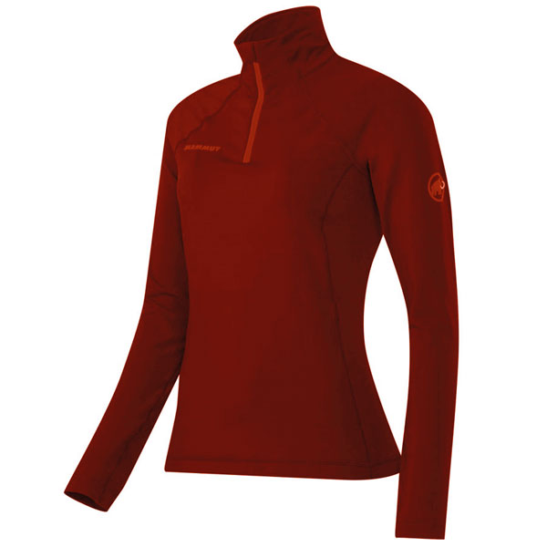polo-rol�k MAMMUT Snow ML Half Zip Pull Women Maroon