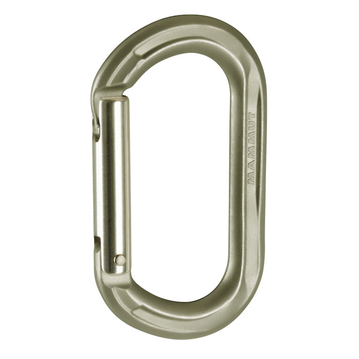 karabína MAMMUT Wall Micro Oval Straight Gate Grey