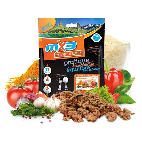dehydrované jedlo MX3 Beef Goulash and Rice 150g