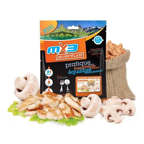 dehydrované jedlo MX3 Chicken and Pasta with Mushrooms 125g