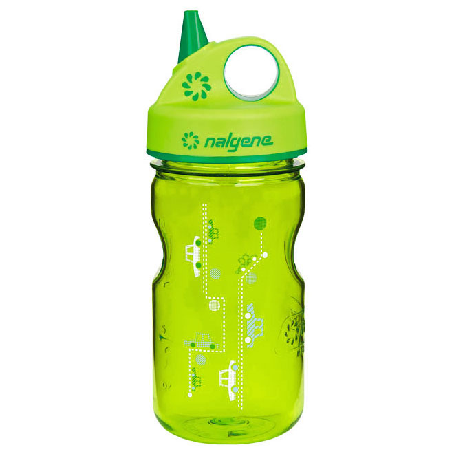 f�a�a NALGENE Grip�n Gulp Kids 0.35 L Green Cars