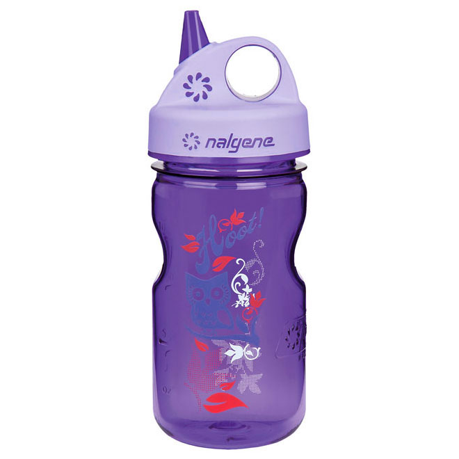 f�a�a NALGENE Grip�n Gulp Kids 0.35 L Purple Hoot