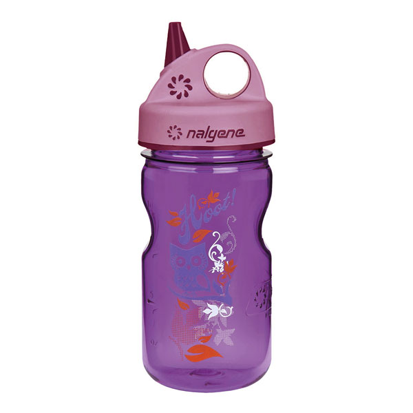 fľaša NALGENE Grip´n Gulp Kids 0.35 L Purple Hoot