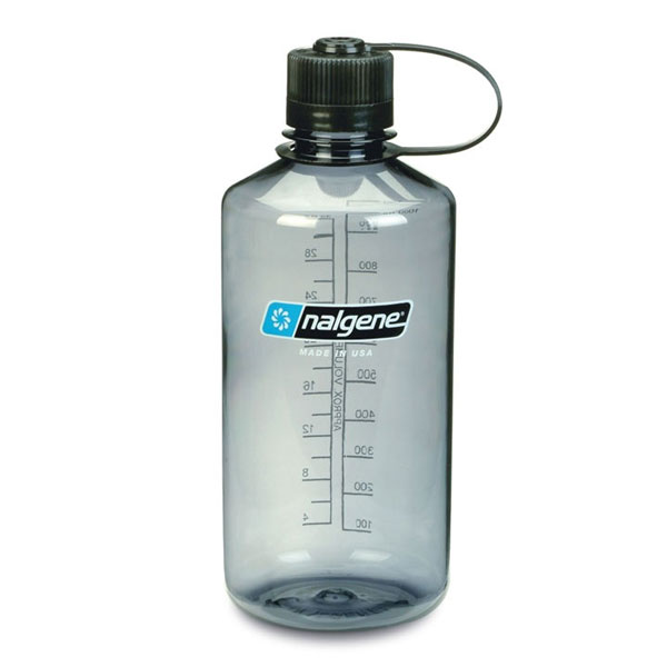 f�a�a NALGENE Narrow Mouth 1.0 L Gray