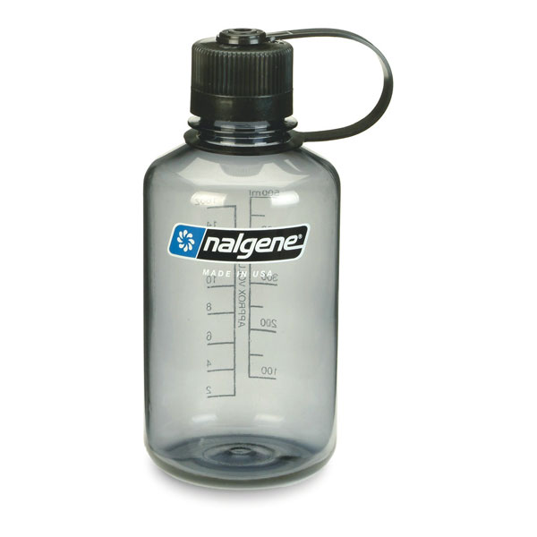 fľaša NALGENE Narrow Mouth 0.5 L Grey