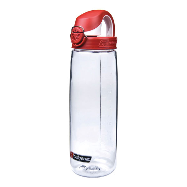 fľaša NALGENE On the Fly 0.65 L Red Clear