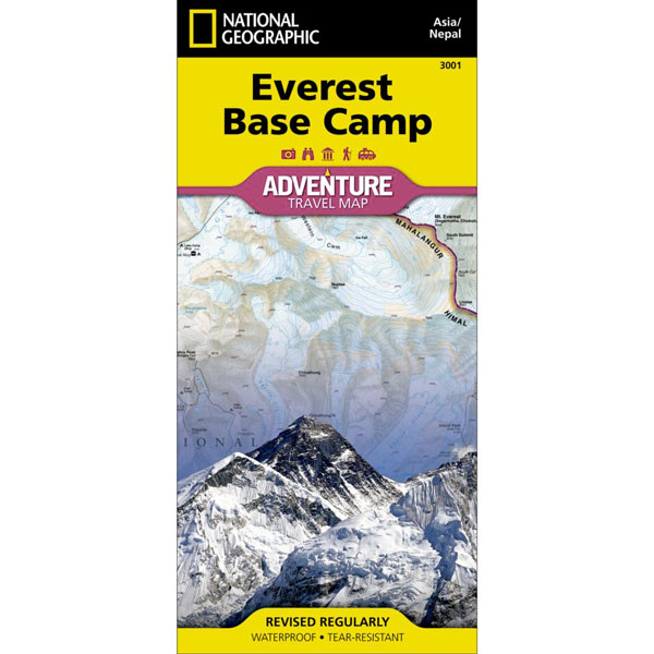 mapa NATIONAL GEOGRAPHIC: Everest Base Camp