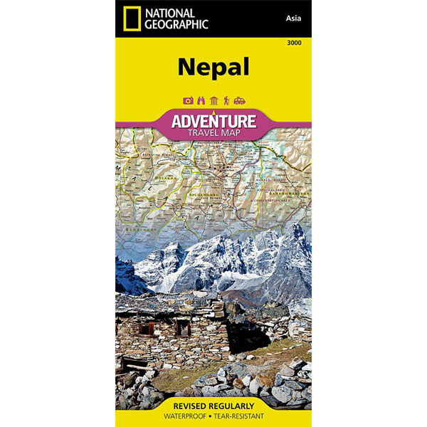 mapa NATIONAL GEOGRAPHIC: Nepal