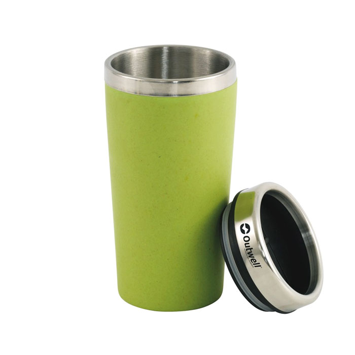 termo poh�r OUTWELL Vacuum Bamboo Cup Green 400ml