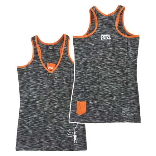 top PETZL City Sport Women´s T-shirt Asphalt Effect