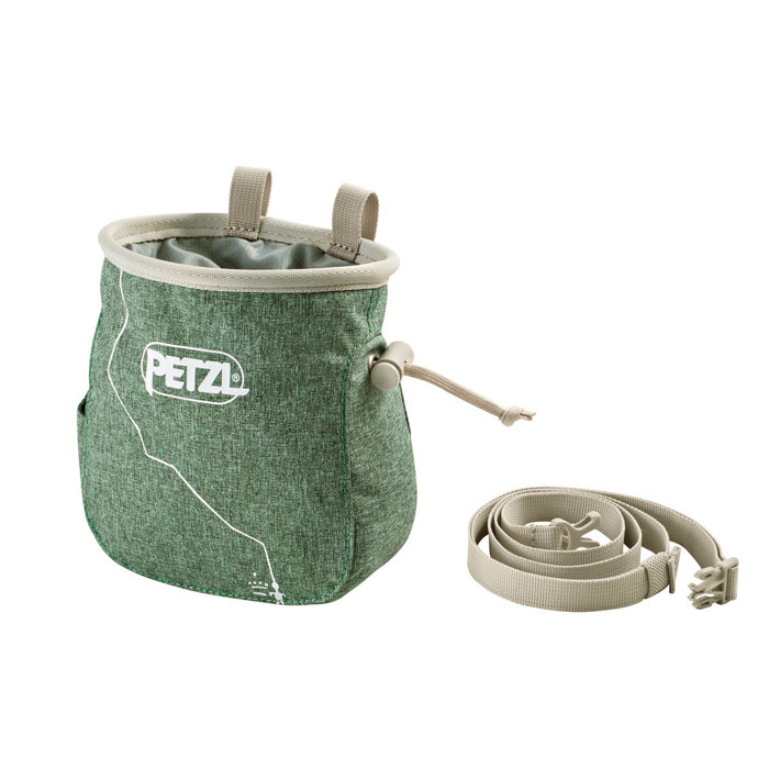 vrecko PETZL Saka Chalk Bag Mottled Green