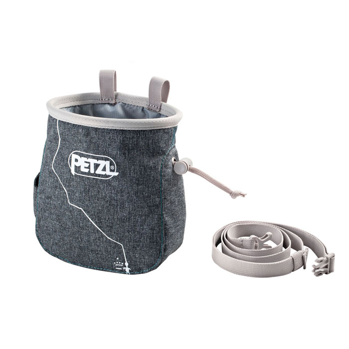 vrecko PETZL Saka Chalk Bag Mottled Grey