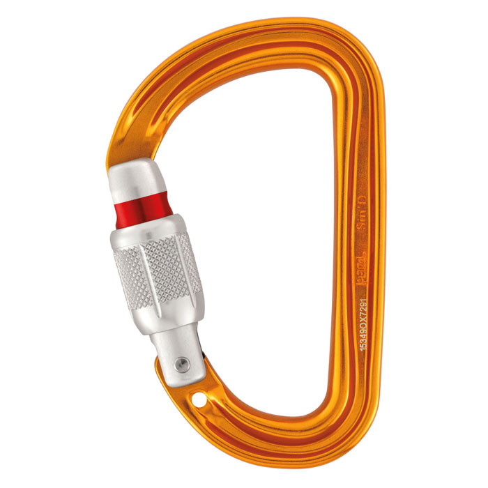 karabína PETZL Sm´D SCREW-LOCK Yellow