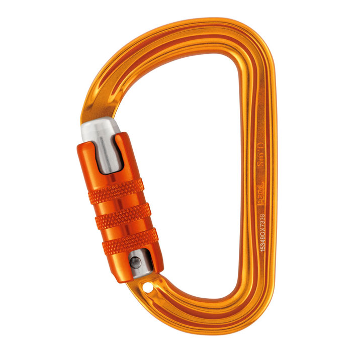 karabína PETZL Sm´D TRIACT-LOCK Yellow