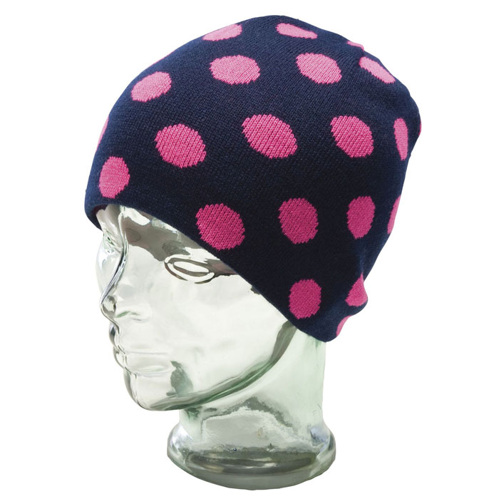 čiapka RIDE Dotty Reversible Long Beanie Electric Fuchsia