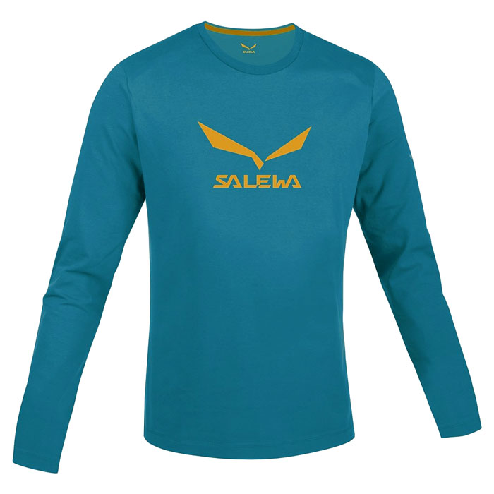 tričko SALEWA SolidLogo Co M L/S Tee Reef