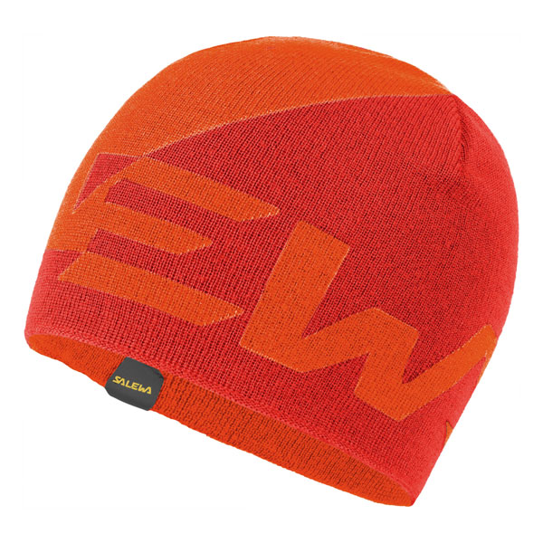 čiapka SALEWA Antelao 2 Reversible WO Beanie Red Orange