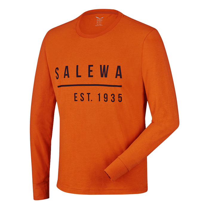tričko SALEWA Binne Co M L/S Tee Rusty Rock