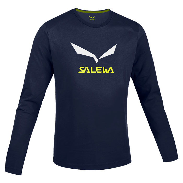 tri�ko SALEWA SolidLogo Co M L/S Tee