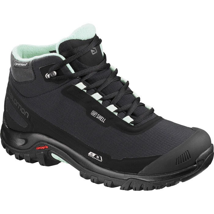 obuv SALOMON Shelter CS WP W Black/Black/Eggshell Blue