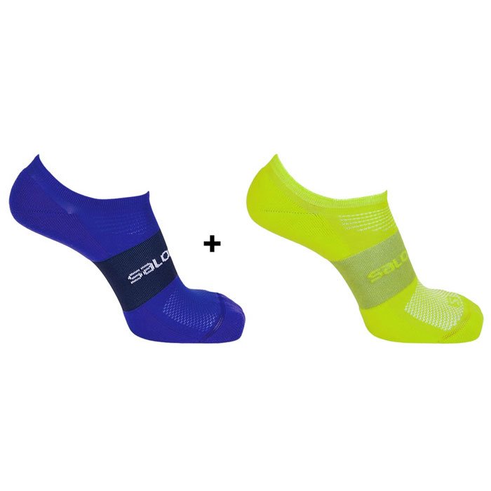 ponožky SALOMON Sonic 2 Pack (EU 45-47) Lime Punch/Surf the Web