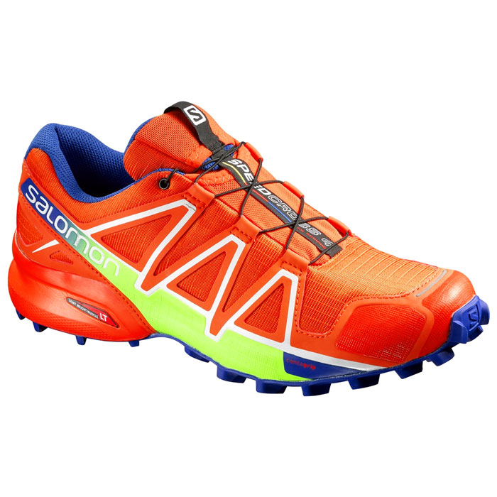 obuv SALOMON Speedcross 4 Tomato Red/Blue Yonder/Granny Green