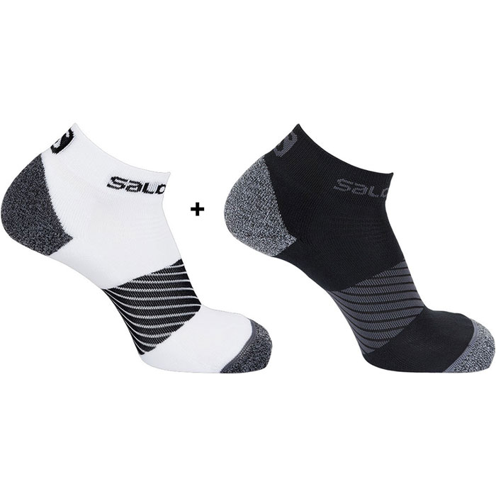 ponožky SALOMON Speed 2pack (EU 45-47) Black/White