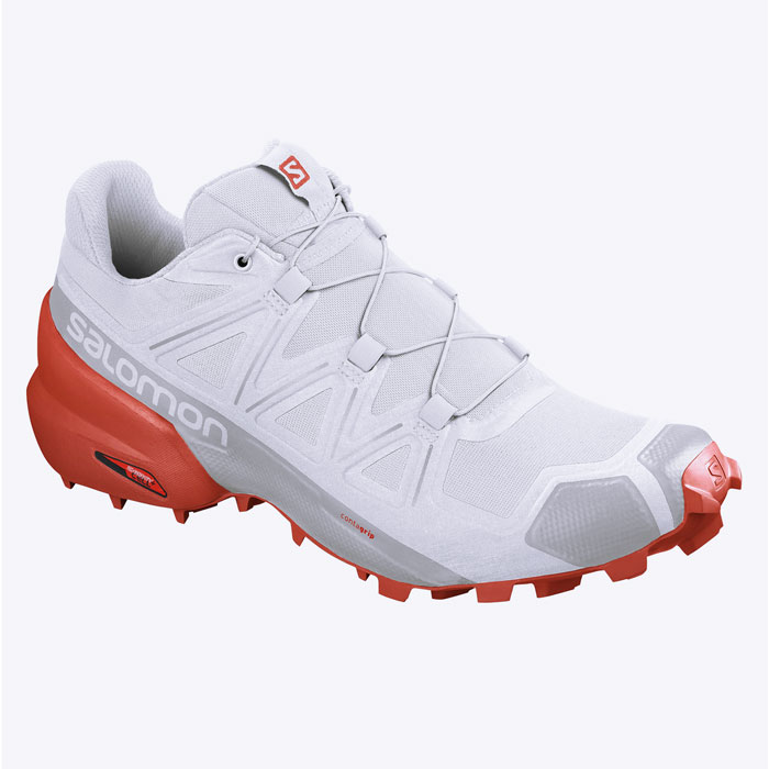 obuv SALOMON Speedcross 5 White/White/Cherry Tomato