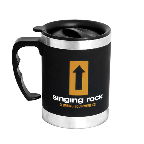 termo hrnček SINGING ROCK Mug Black 0.4 L