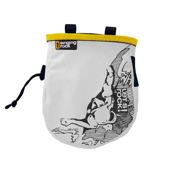 vrecko SINGING ROCK Chalk Bag Comic L Yellow