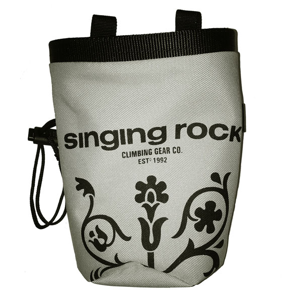 vrecko SINGING ROCK Chalk Bag L Grey