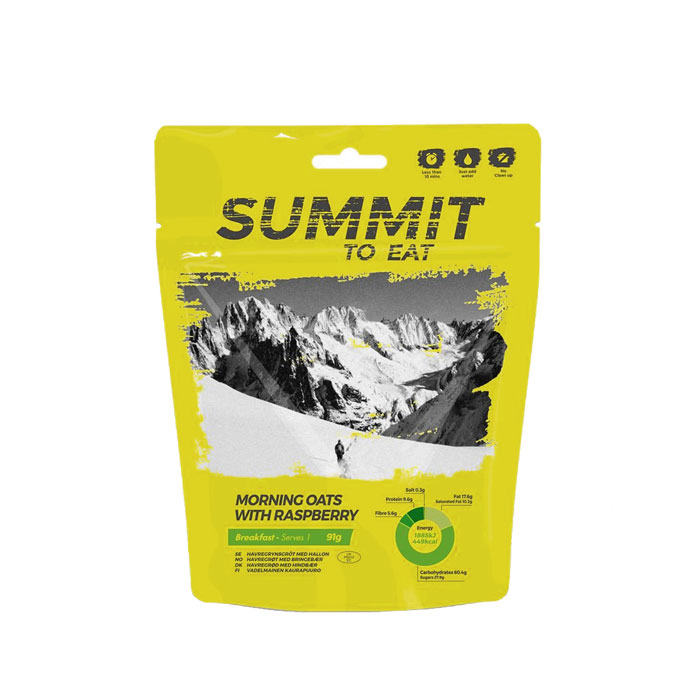 strava SUMMIT TO EAT Ovsená kaša s malinami 98g