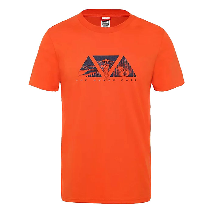 tričko THE NORTH FACE M S/S Flash Tee Papaya Orange